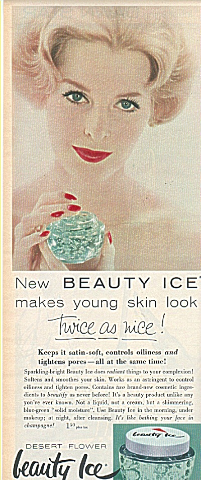 Beauty Ice by Shulton ad 1958 (Image1)