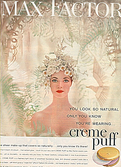 Creme Puff by Max Factor ad 1958 (Image1)