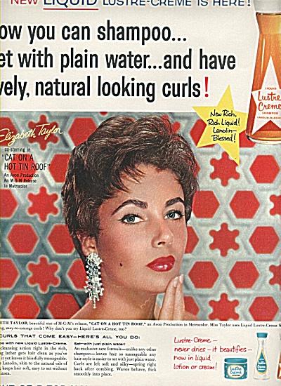 Lustre Creme shampoo-ELIZABETH TAYLOR  - ad (Image1)