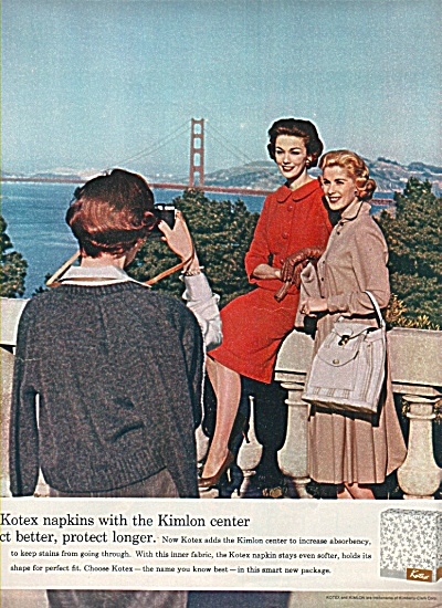 Kotex napkins with Kimlon ad 1958 (Image1)