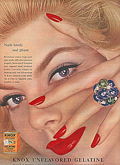 Knox unflavored Gelatine ad 1958 (Image1)