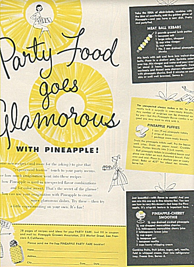 Pineapple party fare ad 1958 (Image1)