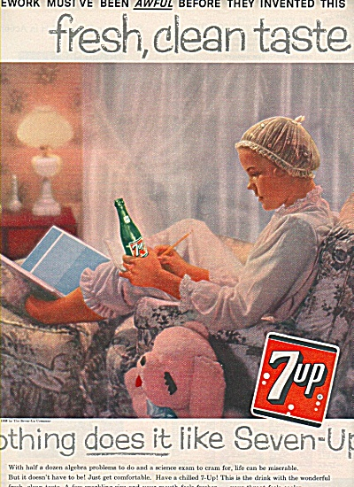 7-up Drink Ad 1958