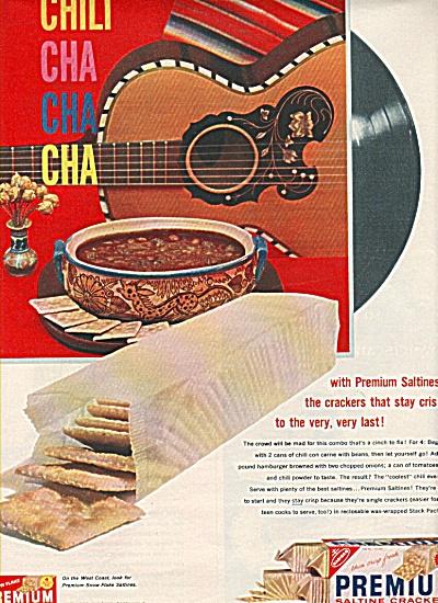 Premium saltine crackers ad 1958 (Image1)