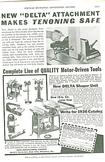 Quality Motor Driven Tools Ad 1936