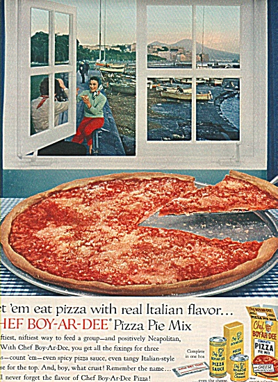 Chef Boy-ar-dee Pizza ad 1958 (Image1)