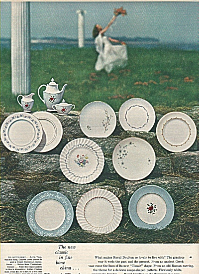 Roy Doulton Chinaware Ad 1958
