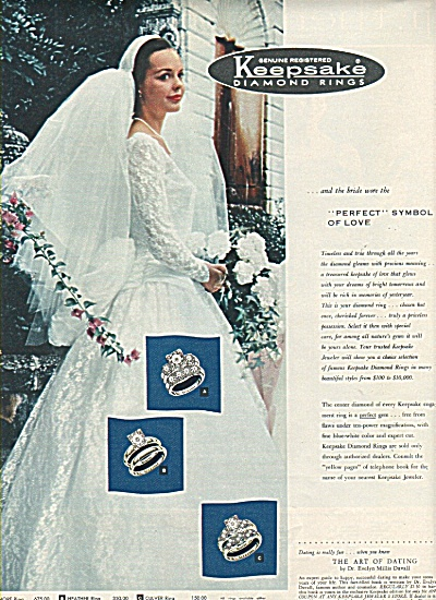 Keepsake diamond rings ad 1958 (Image1)