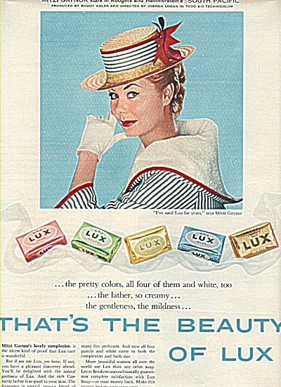 Lux soap - MITZI GAYNOR  ad 1958 (Image1)