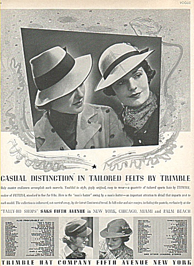 Tailored felts by Trimble ad 1936 (Image1)