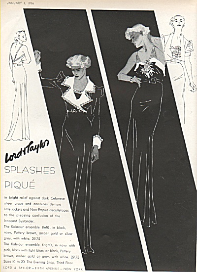 Lord & Taylor ad - Lord & Taylor ad  1936 (Image1)