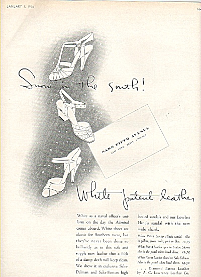 Saks Fifth avenue-white patent leather shoes (Image1)