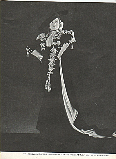 Opera Star ROSA PONSELLE  ad 1936 (Image1)