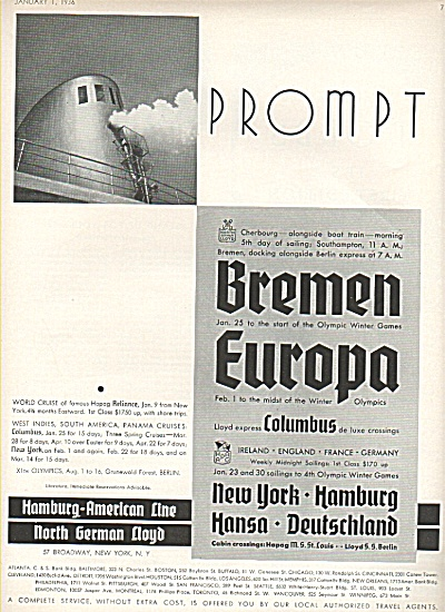 Hamburg-American line ad 1936 (Image1)