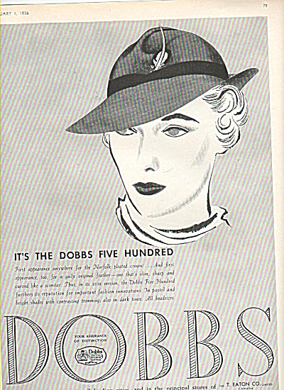 Dobbs hat for women ad 1936 (Image1)