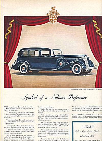 Packard Motor car ad 1936 (Image1)