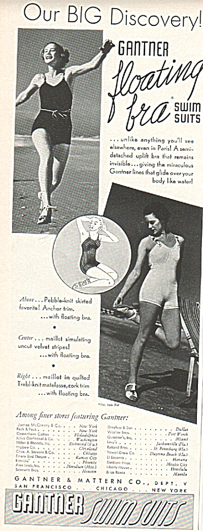 Gantner swim suits ad 1936 (Image1)