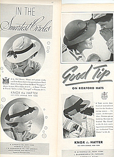 Knox the Hatter ads 1936 (Image1)