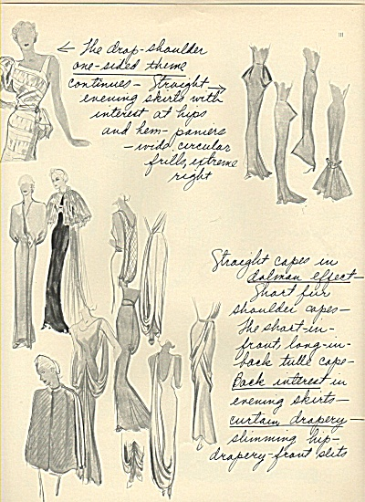 Women's clothes, garments sketched - 1936 (Image1)