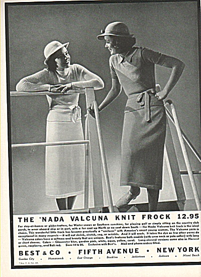 The Nada Valcuna Knite frock ad 1936 (Image1)