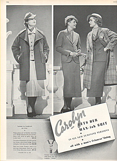 Carolyn suits-Fashion Models spread 1936 (Image1)