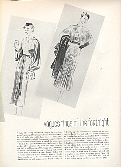 Vogue's finds of the fortnight  1936 VINTAGE FASHIONS (Image1)