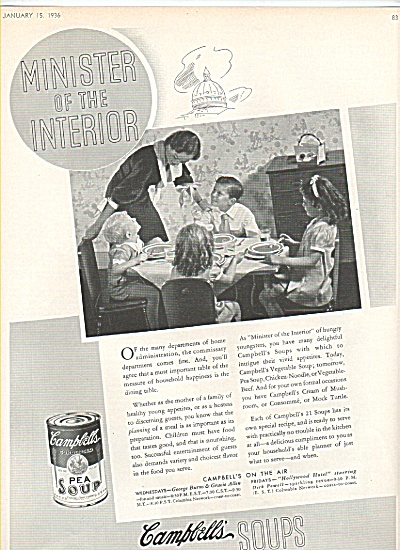 Campbell's pea soup ad 1936 (Image1)