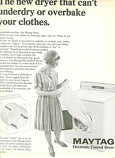 Maytag Electronic Control Dryers Ad 1965