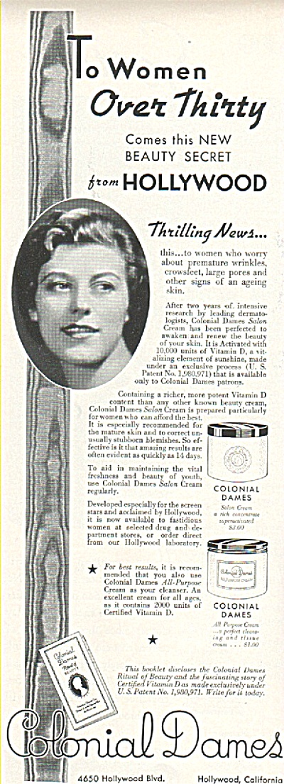 Colonial Dames Ad 1936