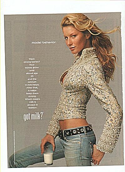 GISELE BUNDCHEN - milk mustache ad (Image1)