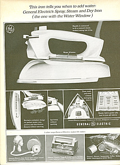 General Electric Steam Iron Ad 1965