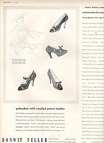 1936 Bonwit Teller ad &Lorraine Worsteds ad (Image1)