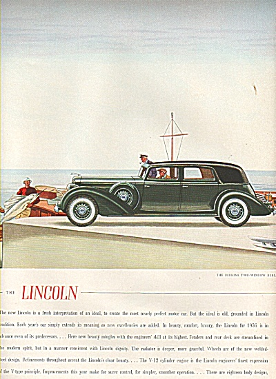Lincoln Automobile Ad 1936