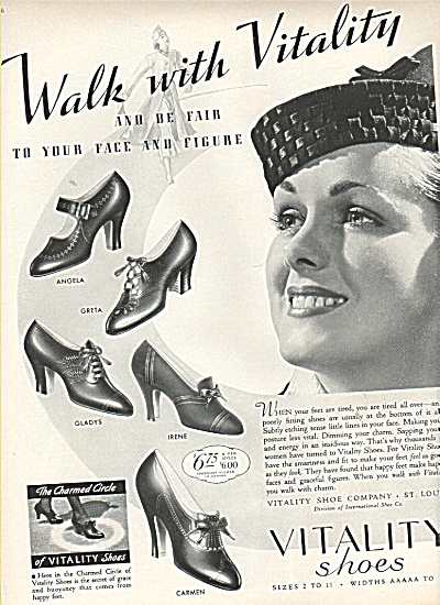 Vitality Shoes - St. Louis Co., Ad 1936