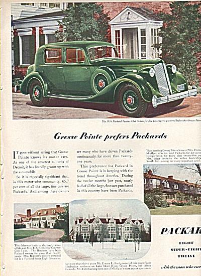 Packard Sedan auto ad 1936 (Image1)