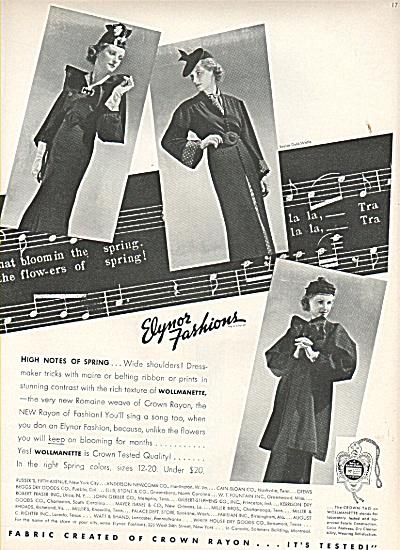 1936 Vintage Elynor Fashions - Crown rayon AD 1936 (Image1)