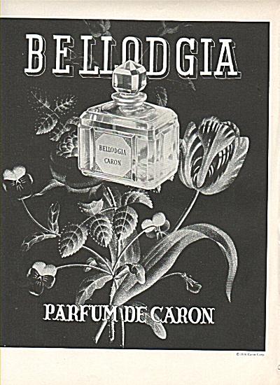 Bellodgia Parfum de Caron ad 1936 (Image1)