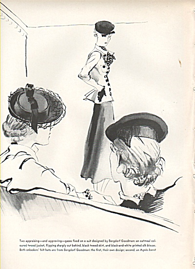 New Clothes sketches with models 1936 (Image1)