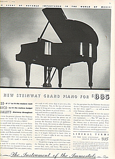Steinway Grand piano ad 1936 (Image1)