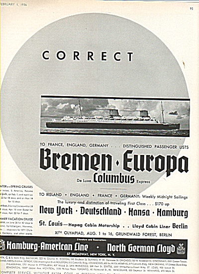 Hamburg American line ad 1936 (Image1)