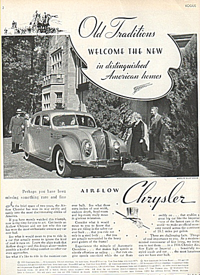 Chrysler Airflow eight sedan ad 1936 (Image1)