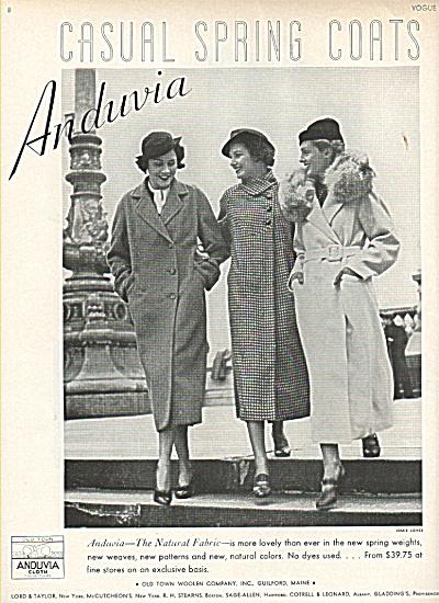 1936 Anduvia Coats FASHIONS AD Models (Image1)