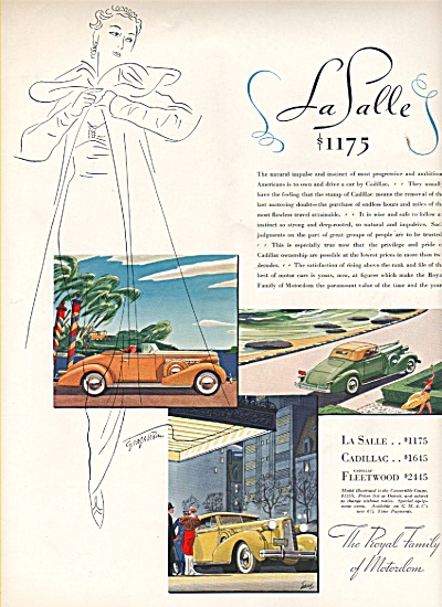 LaSalle - Cadillac-Fleetwood autos ad 1936 (Image1)