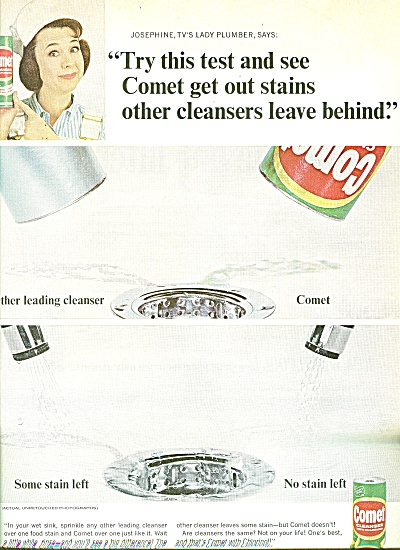 Comet Cleanser - JANE WITHERS ad 1965 (Image1)
