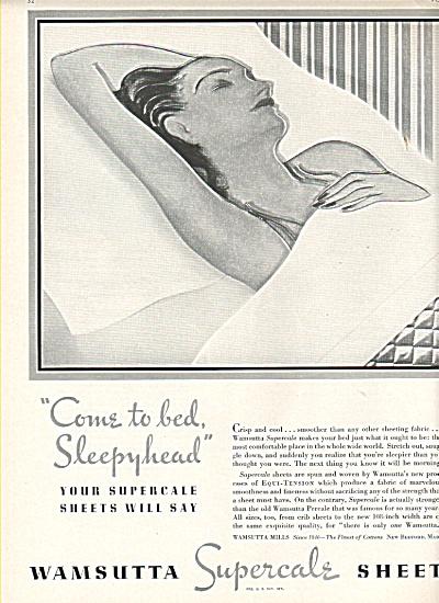 Wamsutta supercale sheets ad 1936 (Image1)