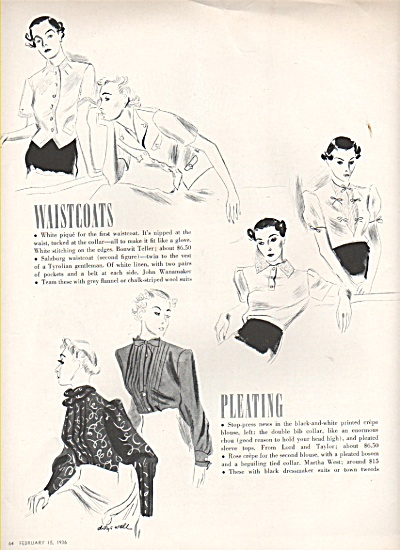 WOMEN'S CLOTHES SKETCHES 1936 (Image1)