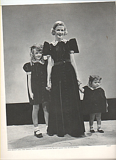 JOAN BENNETT - HELEN HAYES  and daughters (Image1)