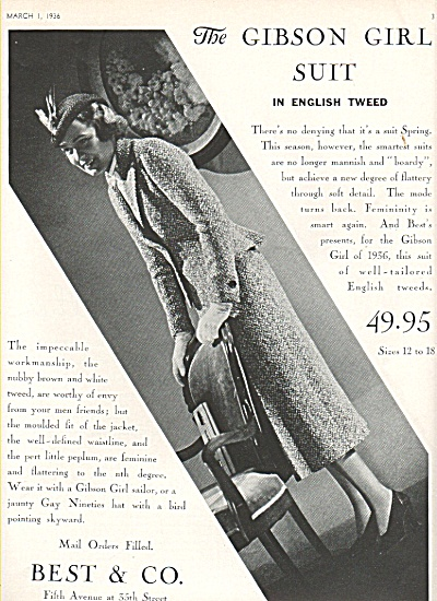 Best & Co - The Gibson girl suit ad 1936 (Image1)