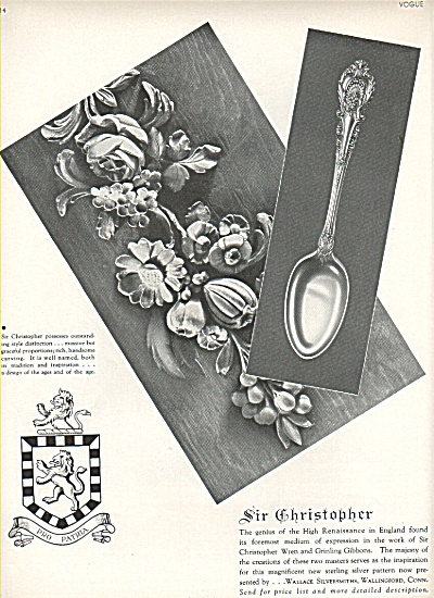 Sir Christopher silverware ad 1936 (Image1)