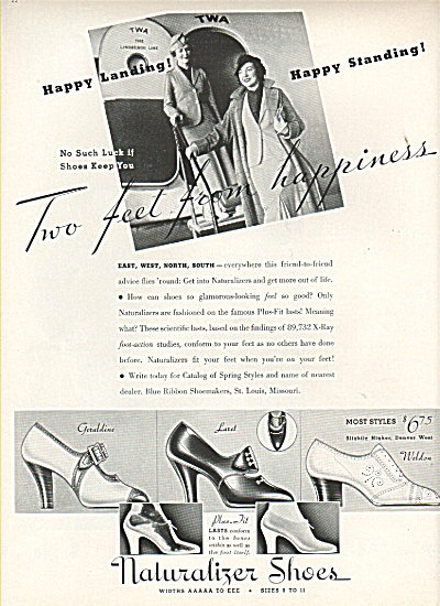 Naturalizer shoes ad 1936 -J. W. Robinson Co. (Image1)